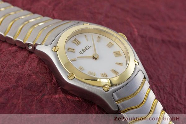 Used luxury watch Ebel Classic Wave steel / gold quartz Kal. 157 Ref. 1157F11  | 161365 13