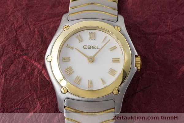 Used luxury watch Ebel Classic Wave steel / gold quartz Kal. 157 Ref. 1157F11  | 161365 14