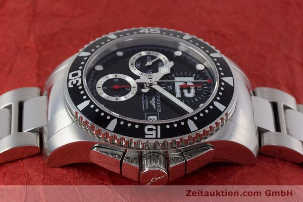Used luxury watch Longines Hydro Conquest chronograph steel automatic Kal. L667.2 ETA 7750 Ref. L3.644.4  | 161370 05