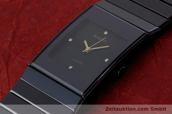 Used luxury watch Rado Diastar Ceramica ceramic / steel quartz Kal. ETA 980.103 Ref. 205.0295.3  | 161371 01