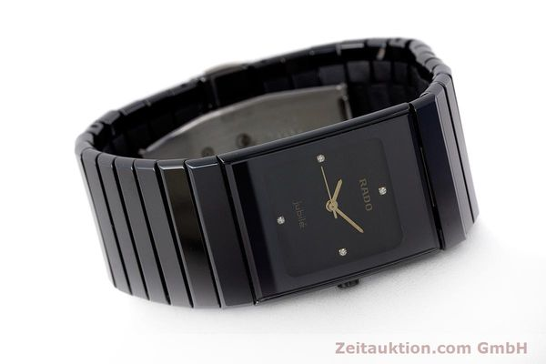 Used luxury watch Rado Diastar Ceramica ceramic / steel quartz Kal. ETA 980.103 Ref. 205.0295.3  | 161371 03