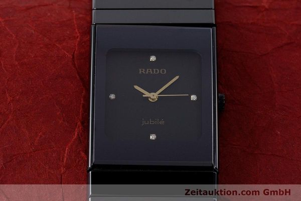 Used luxury watch Rado Diastar Ceramica ceramic / steel quartz Kal. ETA 980.103 Ref. 205.0295.3  | 161371 14