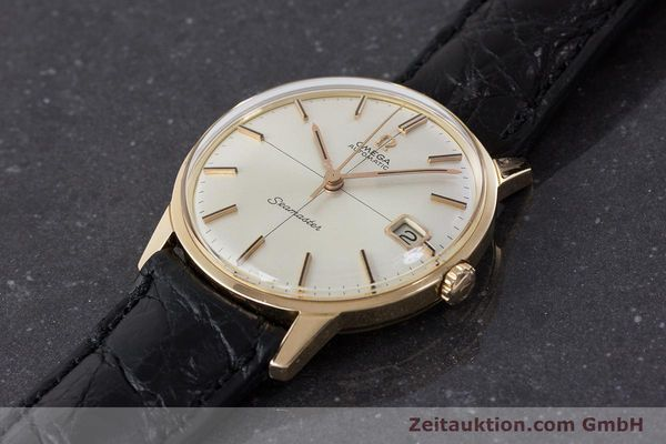 Used luxury watch Omega Seamaster 18 ct gold automatic Kal. 562 Ref. 166001 VINTAGE  | 161373 01