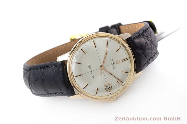 Used luxury watch Omega Seamaster 18 ct gold automatic Kal. 562 Ref. 166001 VINTAGE  | 161373 03