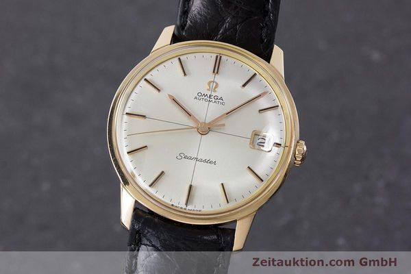 Used luxury watch Omega Seamaster 18 ct gold automatic Kal. 562 Ref. 166001 VINTAGE  | 161373 04