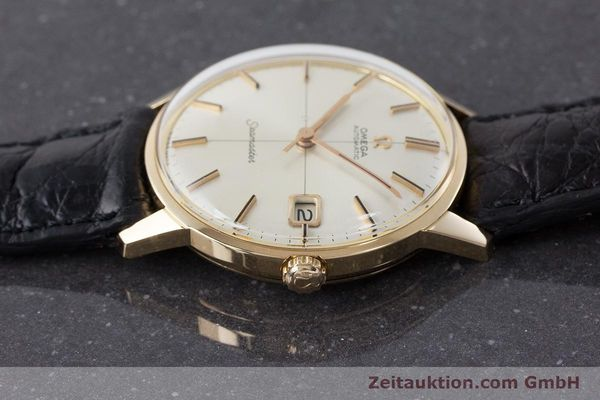 Used luxury watch Omega Seamaster 18 ct gold automatic Kal. 562 Ref. 166001 VINTAGE  | 161373 05