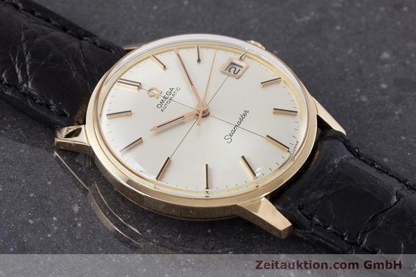 Used luxury watch Omega Seamaster 18 ct gold automatic Kal. 562 Ref. 166001 VINTAGE  | 161373 13