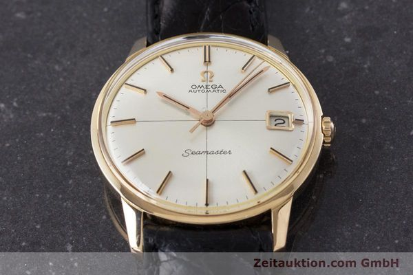Used luxury watch Omega Seamaster 18 ct gold automatic Kal. 562 Ref. 166001 VINTAGE  | 161373 14