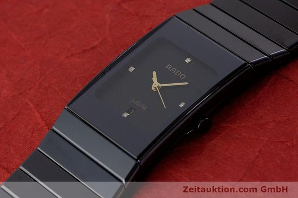 Used luxury watch Rado Diastar Ceramica ceramic / steel quartz Kal. ETA 956.112 Ref. 111.0348.3  | 161374 01