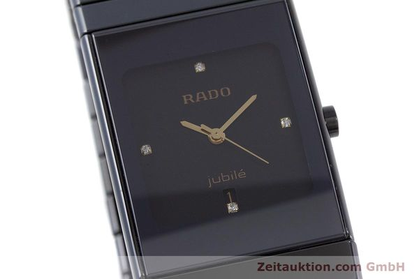 Used luxury watch Rado Diastar Ceramica ceramic / steel quartz Kal. ETA 956.112 Ref. 111.0348.3  | 161374 02