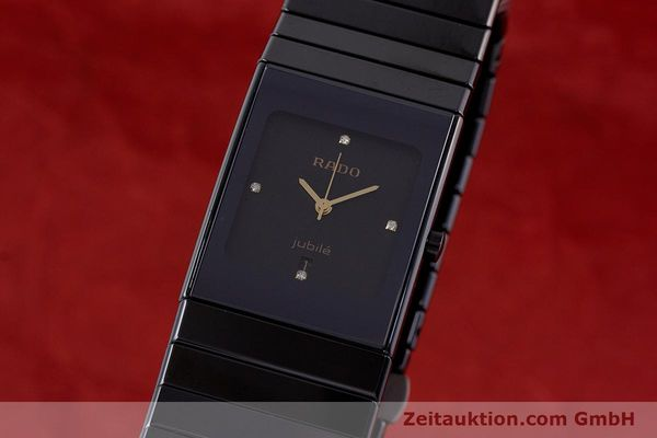 Used luxury watch Rado Diastar Ceramica ceramic / steel quartz Kal. ETA 956.112 Ref. 111.0348.3  | 161374 04