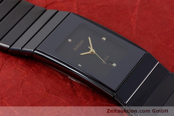 Used luxury watch Rado Diastar Ceramica ceramic / steel quartz Kal. ETA 956.112 Ref. 111.0348.3  | 161374 14
