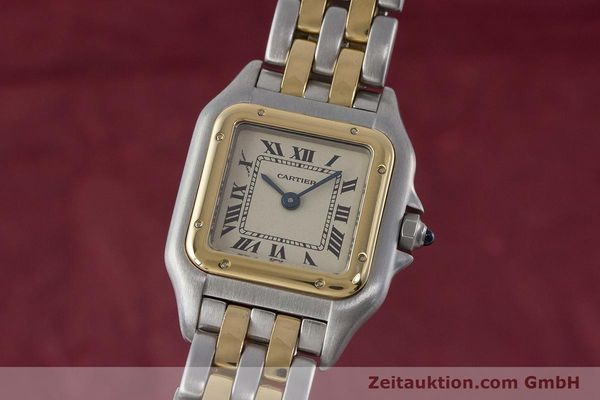 Used luxury watch Cartier Panthere steel / gold quartz Kal. 175  | 161375 04