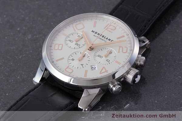 Used luxury watch Montblanc Timewalker chronograph steel automatic Kal. 4810502 Ref. 7141  | 161377 01