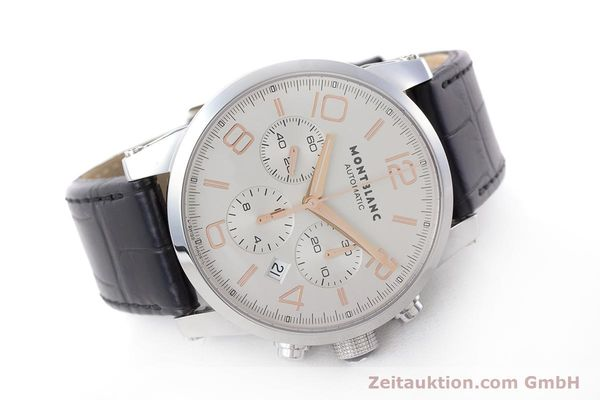 Used luxury watch Montblanc Timewalker chronograph steel automatic Kal. 4810502 Ref. 7141  | 161377 03