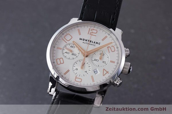 Used luxury watch Montblanc Timewalker chronograph steel automatic Kal. 4810502 Ref. 7141  | 161377 04