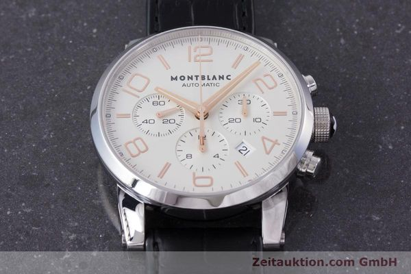 Used luxury watch Montblanc Timewalker chronograph steel automatic Kal. 4810502 Ref. 7141  | 161377 15