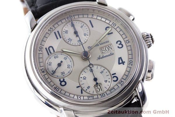Used luxury watch Maurice Lacroix Croneo chronograph steel automatic Kal. ML67 ETA 7750 Ref. 67668  | 161381 02