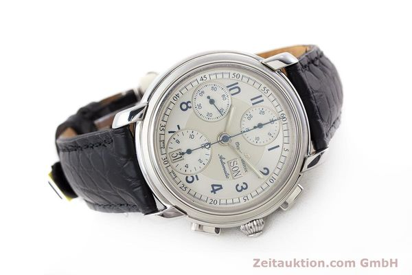 Used luxury watch Maurice Lacroix Croneo chronograph steel automatic Kal. ML67 ETA 7750 Ref. 67668  | 161381 03
