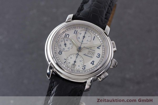 Used luxury watch Maurice Lacroix Croneo chronograph steel automatic Kal. ML67 ETA 7750 Ref. 67668  | 161381 04