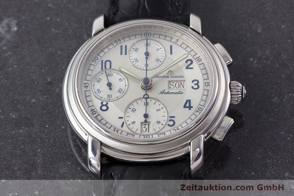 Used luxury watch Maurice Lacroix Croneo chronograph steel automatic Kal. ML67 ETA 7750 Ref. 67668  | 161381 14