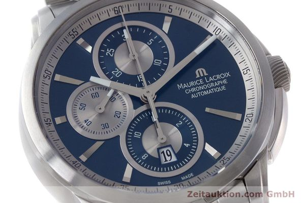 Used luxury watch Maurice Lacroix Pontos chronograph steel automatic Kal. ETA 7750 Ref. PT6178/88  | 161388 02