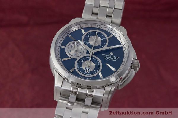 Used luxury watch Maurice Lacroix Pontos chronograph steel automatic Kal. ETA 7750 Ref. PT6178/88  | 161388 04