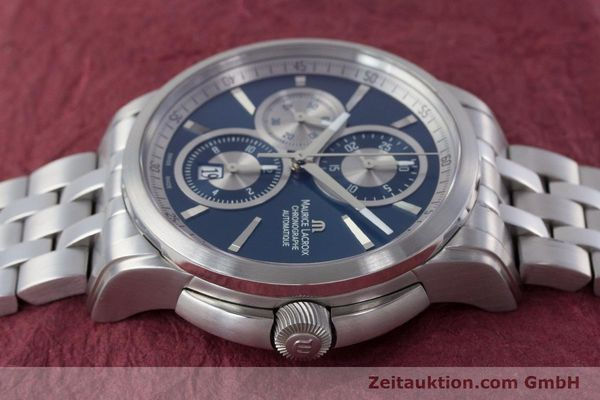 Used luxury watch Maurice Lacroix Pontos chronograph steel automatic Kal. ETA 7750 Ref. PT6178/88  | 161388 05