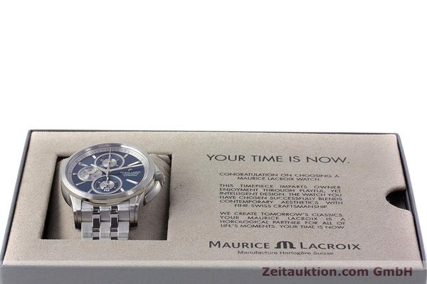 Used luxury watch Maurice Lacroix Pontos chronograph steel automatic Kal. ETA 7750 Ref. PT6178/88  | 161388 07