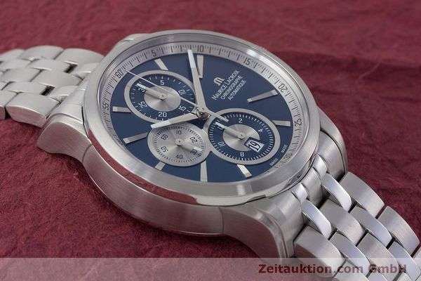Used luxury watch Maurice Lacroix Pontos chronograph steel automatic Kal. ETA 7750 Ref. PT6178/88  | 161388 15