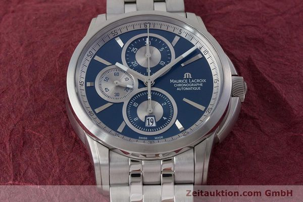 Used luxury watch Maurice Lacroix Pontos chronograph steel automatic Kal. ETA 7750 Ref. PT6178/88  | 161388 16