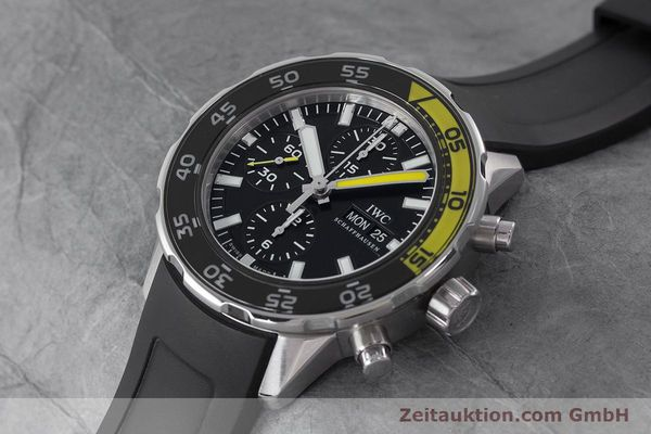 Used luxury watch IWC Aquatimer chronograph steel automatic Kal. 790 Ref. 3767  | 161393 01