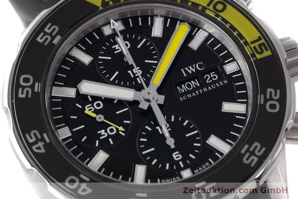Used luxury watch IWC Aquatimer chronograph steel automatic Kal. 790 Ref. 3767  | 161393 02
