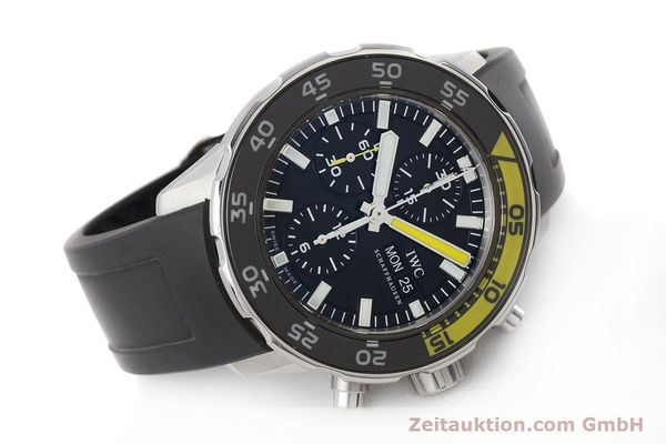 Used luxury watch IWC Aquatimer chronograph steel automatic Kal. 790 Ref. 3767  | 161393 03