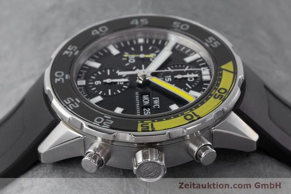 Used luxury watch IWC Aquatimer chronograph steel automatic Kal. 790 Ref. 3767  | 161393 05