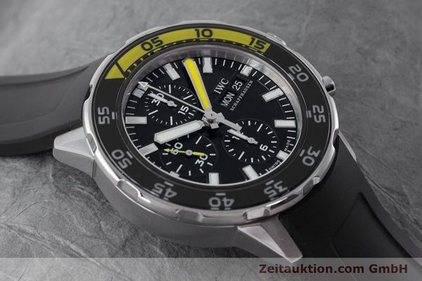 Used luxury watch IWC Aquatimer chronograph steel automatic Kal. 790 Ref. 3767  | 161393 14