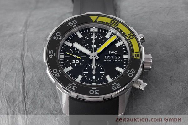 Used luxury watch IWC Aquatimer chronograph steel automatic Kal. 790 Ref. 3767  | 161393 15