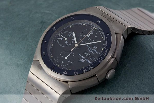 Used luxury watch IWC Porsche Design chronograph titanium automatic Kal. ETA 7750 Ref. 3702  | 161395 01
