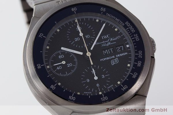 Used luxury watch IWC Porsche Design chronograph titanium automatic Kal. ETA 7750 Ref. 3702  | 161395 02