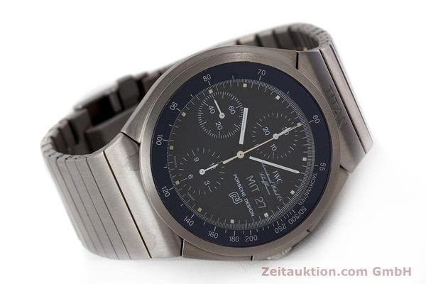 Used luxury watch IWC Porsche Design chronograph titanium automatic Kal. ETA 7750 Ref. 3702  | 161395 03