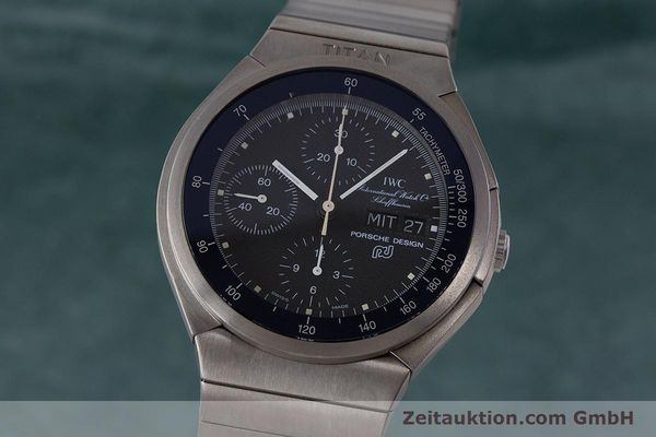 Used luxury watch IWC Porsche Design chronograph titanium automatic Kal. ETA 7750 Ref. 3702  | 161395 04