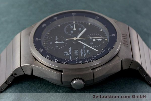 Used luxury watch IWC Porsche Design chronograph titanium automatic Kal. ETA 7750 Ref. 3702  | 161395 05