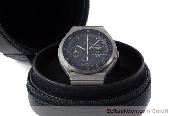 Used luxury watch IWC Porsche Design chronograph titanium automatic Kal. ETA 7750 Ref. 3702  | 161395 07