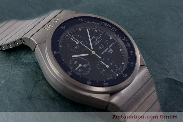 Used luxury watch IWC Porsche Design chronograph titanium automatic Kal. ETA 7750 Ref. 3702  | 161395 14
