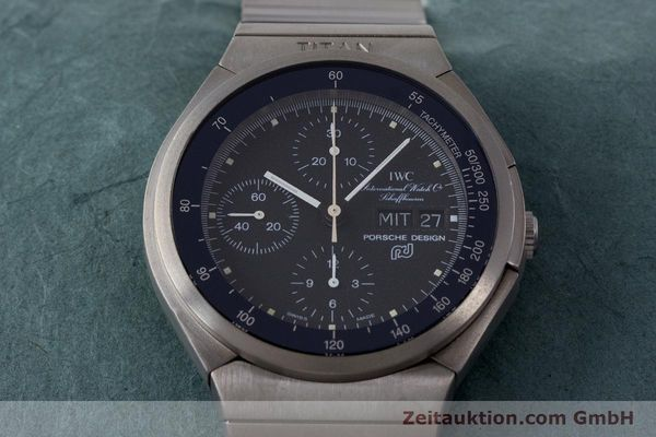 Used luxury watch IWC Porsche Design chronograph titanium automatic Kal. ETA 7750 Ref. 3702  | 161395 15