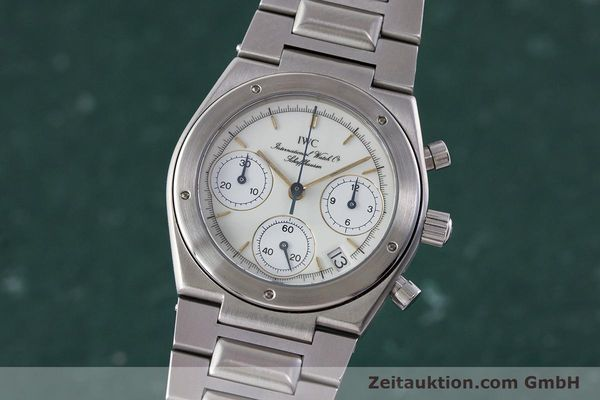 Used luxury watch IWC Ingenieur chronograph steel quartz Kal. 630 Ref. 3733  | 161403 04