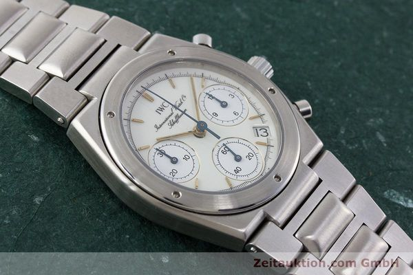 Used luxury watch IWC Ingenieur chronograph steel quartz Kal. 630 Ref. 3733  | 161403 14