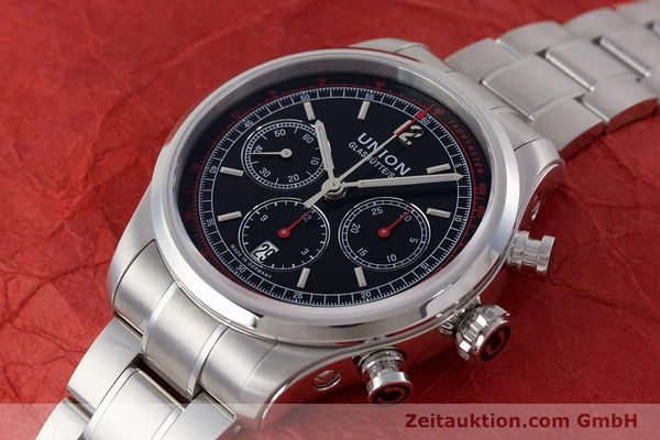 Used luxury watch Union Glashütte Belisar chronograph steel automatic Kal. UNG-2701 Ref. D009.427.A  | 161408 01