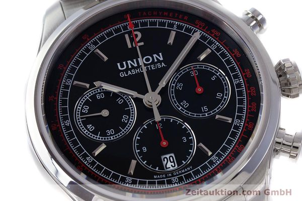 Used luxury watch Union Glashütte Belisar chronograph steel automatic Kal. UNG-2701 Ref. D009.427.A  | 161408 02