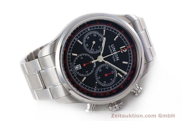 Used luxury watch Union Glashütte Belisar chronograph steel automatic Kal. UNG-2701 Ref. D009.427.A  | 161408 03